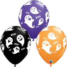 "Halloween Balloons - 11"" Emoticon Ghosts (25pcs)"